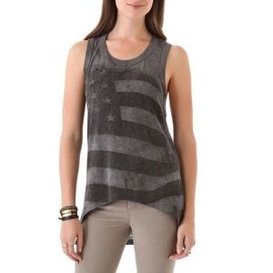 NWT Chaser Star Spangled Tank in Vintage Wash M